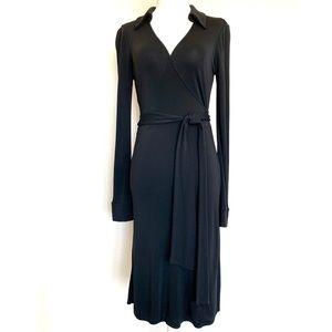 DVF Classic Black Wrap Dress